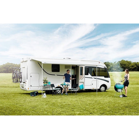 Image of THULE Omnistor 5200 Anodised Awning & 12V Motor + FREE Storm Strap Kit made by Thule. A Motorhome Awnings sold by Quality Caravan Awnings