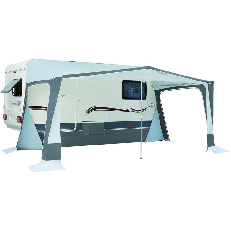 Exterior view of Trigano Adriatic Full Caravan Awning opened up