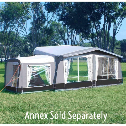 Image of Camptech Kensington Full Traditional Inflatable Air Caravan Awning + FREE Straps (2019) made by CampTech. A Caravan Awning sold by Quality Caravan Awnings