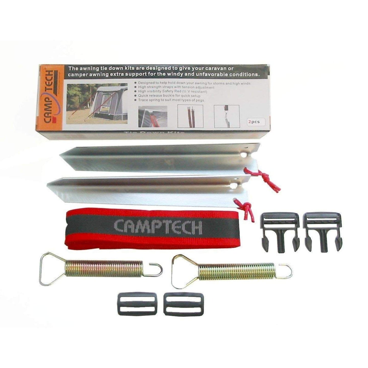 Camptech Airdream Tie-down Kit SL-5002 (2019) made by CampTech. A Accessories sold by Quality Caravan Awnings