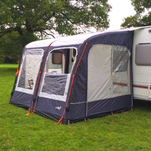 Camptech Starline 260 Blue Inflatable Air Porch Caravan Awning + FREE Straps (2019)