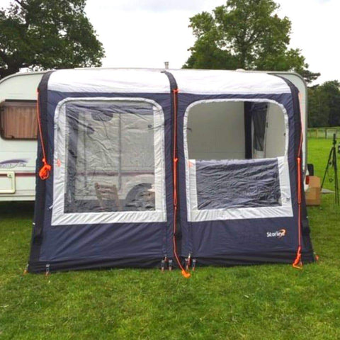 Image of Camptech Starline 260 Blue Inflatable Air Porch Caravan Awning + FREE Straps (2019)