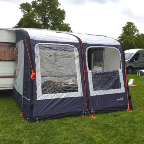 Image of Camptech Starline 300 Blue Inflatable Air Porch Caravan Awning + FREE Straps (2019)