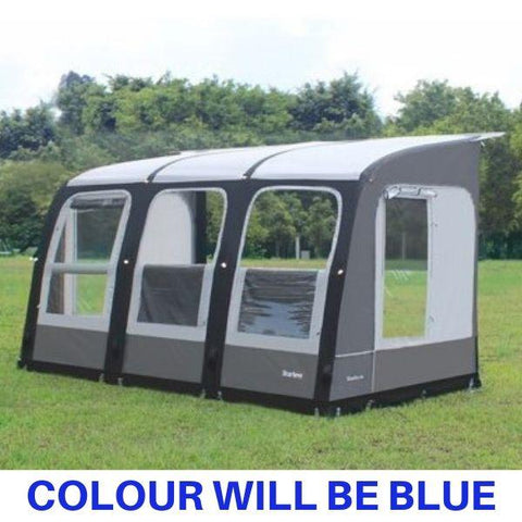 Image of Camptech Starline 390 Blue Inflatable Air Porch Caravan Awning + FREE Straps (2019)