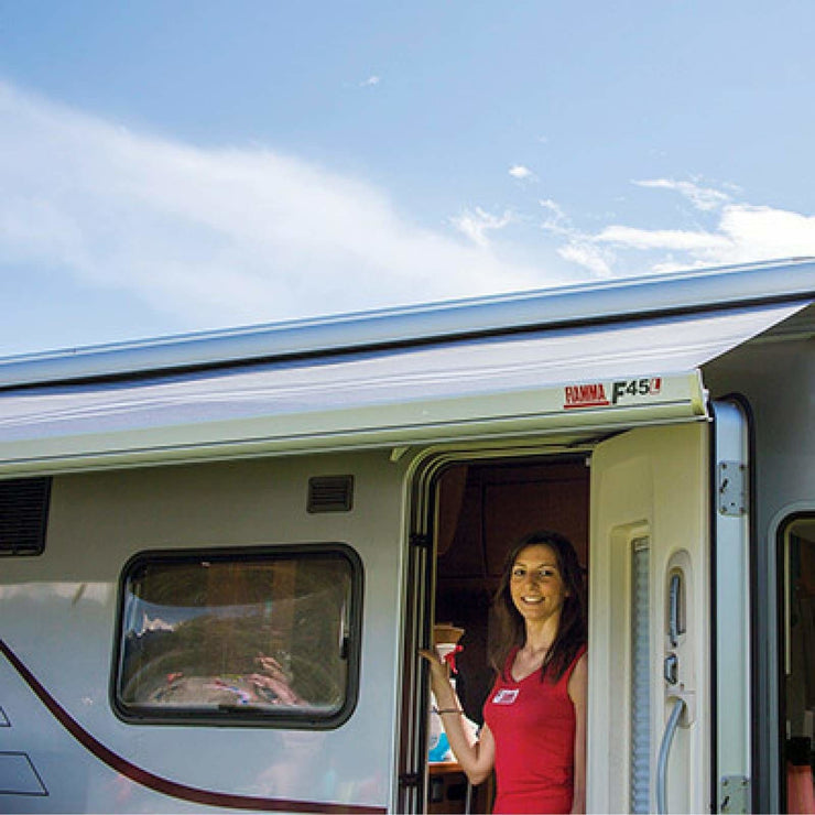 Fiamma 12V Integrated Polar White Awning Motorization Kit made by Fiamma. A Motorhome Awnings sold by Quality Caravan Awnings
