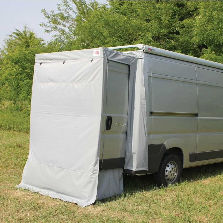 Fiamma Ducato Rear Door Cover Awning made by Fiamma. A Campervan Awning sold by Quality Caravan Awnings