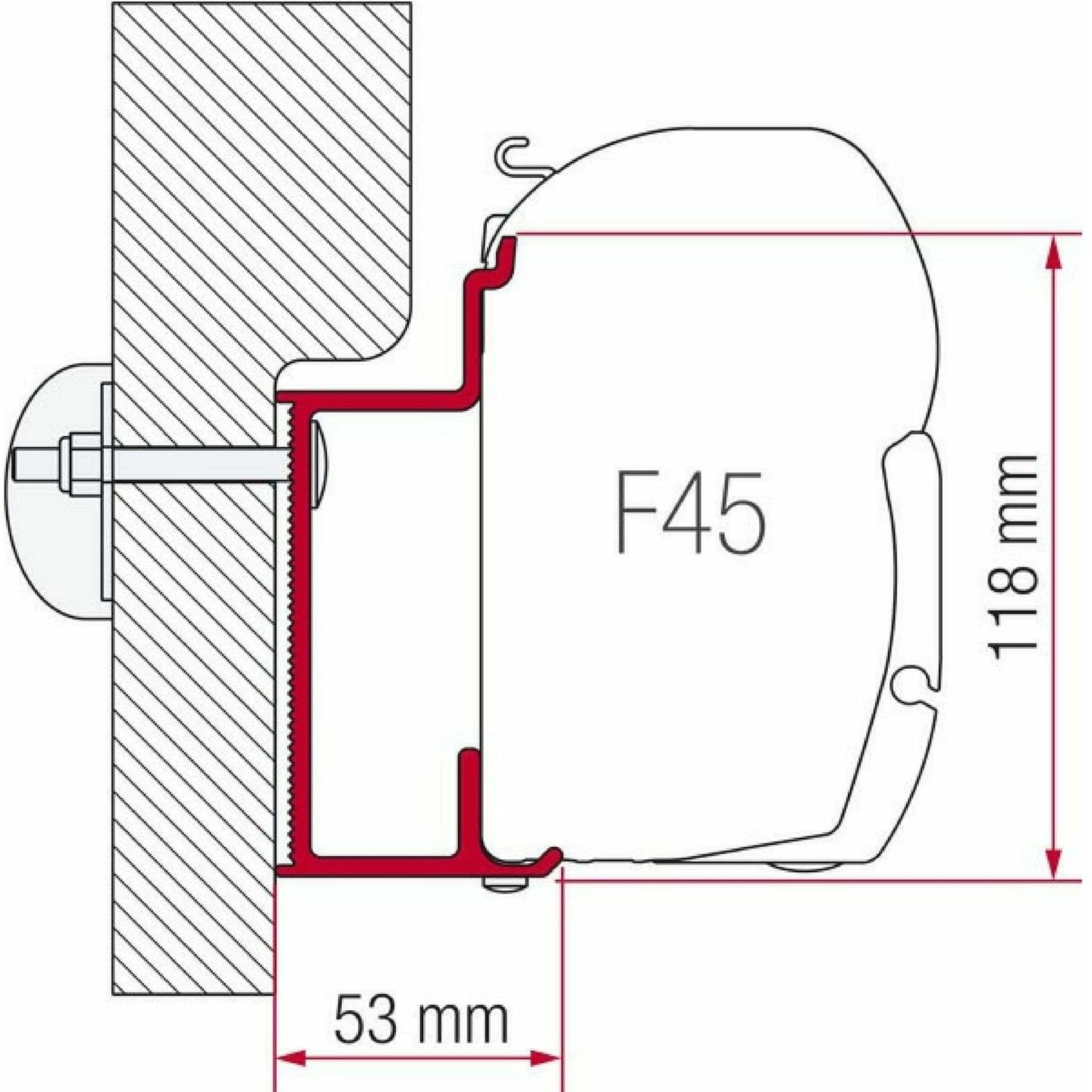 Fiamma Eura Mobil Karmann Motorhome Awning Adapter made by Fiamma. A Awning Adapter sold by Quality Caravan Awnings