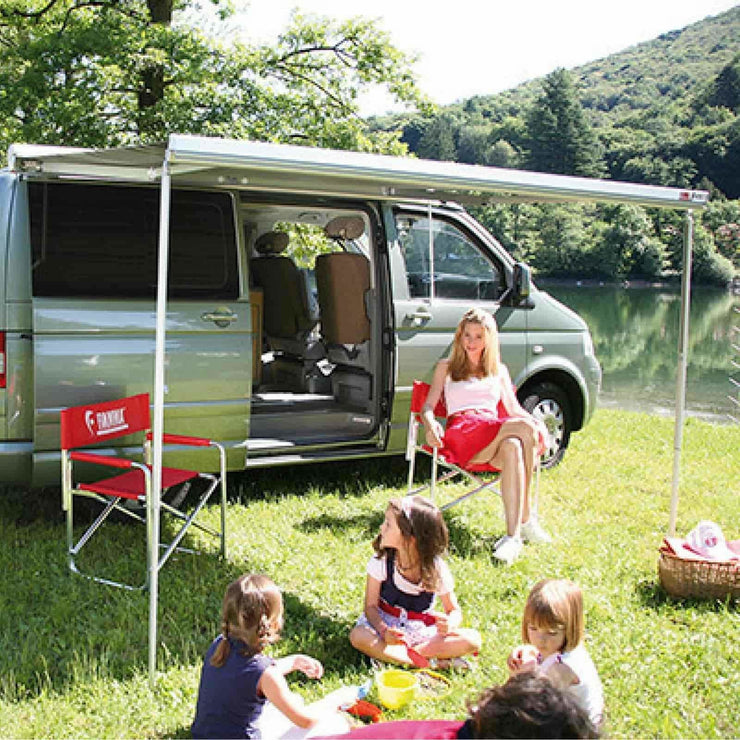 Fiamma F45S VW T5/T6 Deep Black Motorhome Awning made by Fiamma. A Motorhome Awnings sold by Quality Caravan Awnings