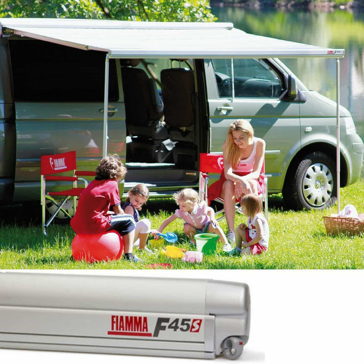 Fiamma F45S VW T5/T6 Titanium Motorhome Awning made by Fiamma. A Motorhome Awnings sold by Quality Caravan Awnings