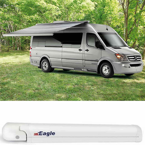 Image of Fiamma F65 Eagle Ducato Polar White Automatic Motorhome Awning made by Fiamma. A Motorhome Awnings sold by Quality Caravan Awnings