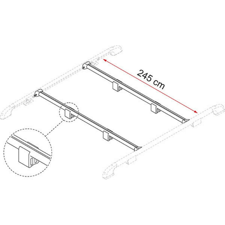 Fiamma Fixing-Bar Roof Rail made by Fiamma. A Accessories sold by Quality Caravan Awnings