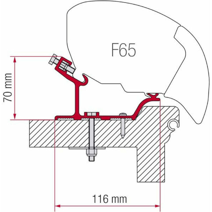 Fiamma Hobby Easy Awning Adapter Kit made by Fiamma. A Awning Adapter sold by Quality Caravan Awnings