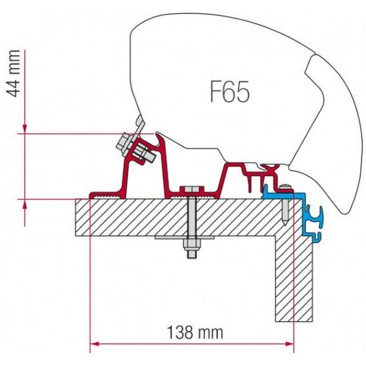 Fiamma Hobby Excellent Awning Adapter Kit made by Fiamma. A Awning Adapter sold by Quality Caravan Awnings