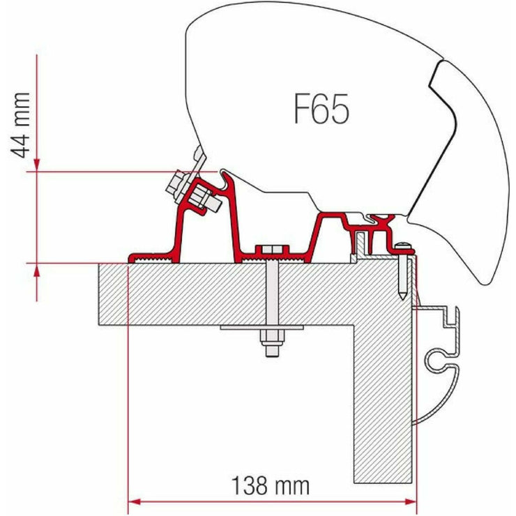 Fiamma Hobby Premium Awning Adapter Kit made by Fiamma. A Awning Adapter sold by Quality Caravan Awnings