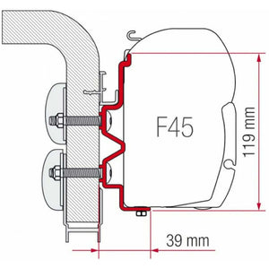 Fiamma Hymer Camp Motorhome Awning Adapter - Quality Caravan Awnings