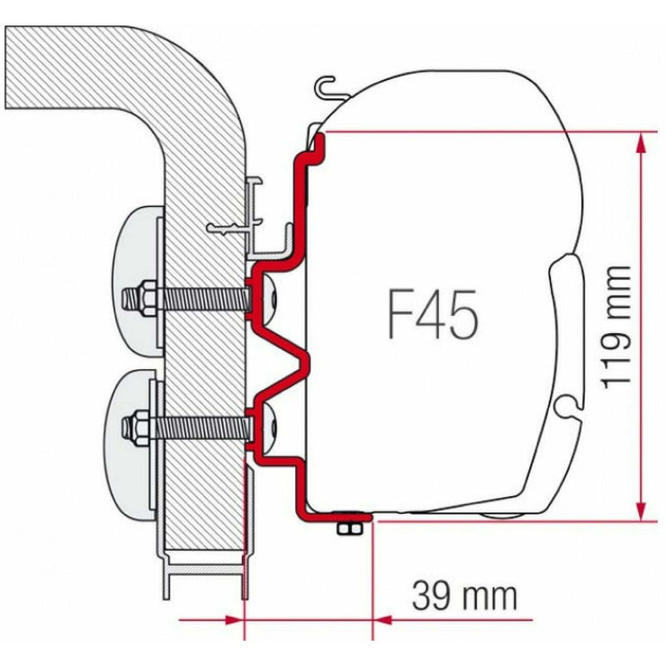 Fiamma Hymer Camp Motorhome Awning Adapter made by Fiamma. A Awning Adapter sold by Quality Caravan Awnings
