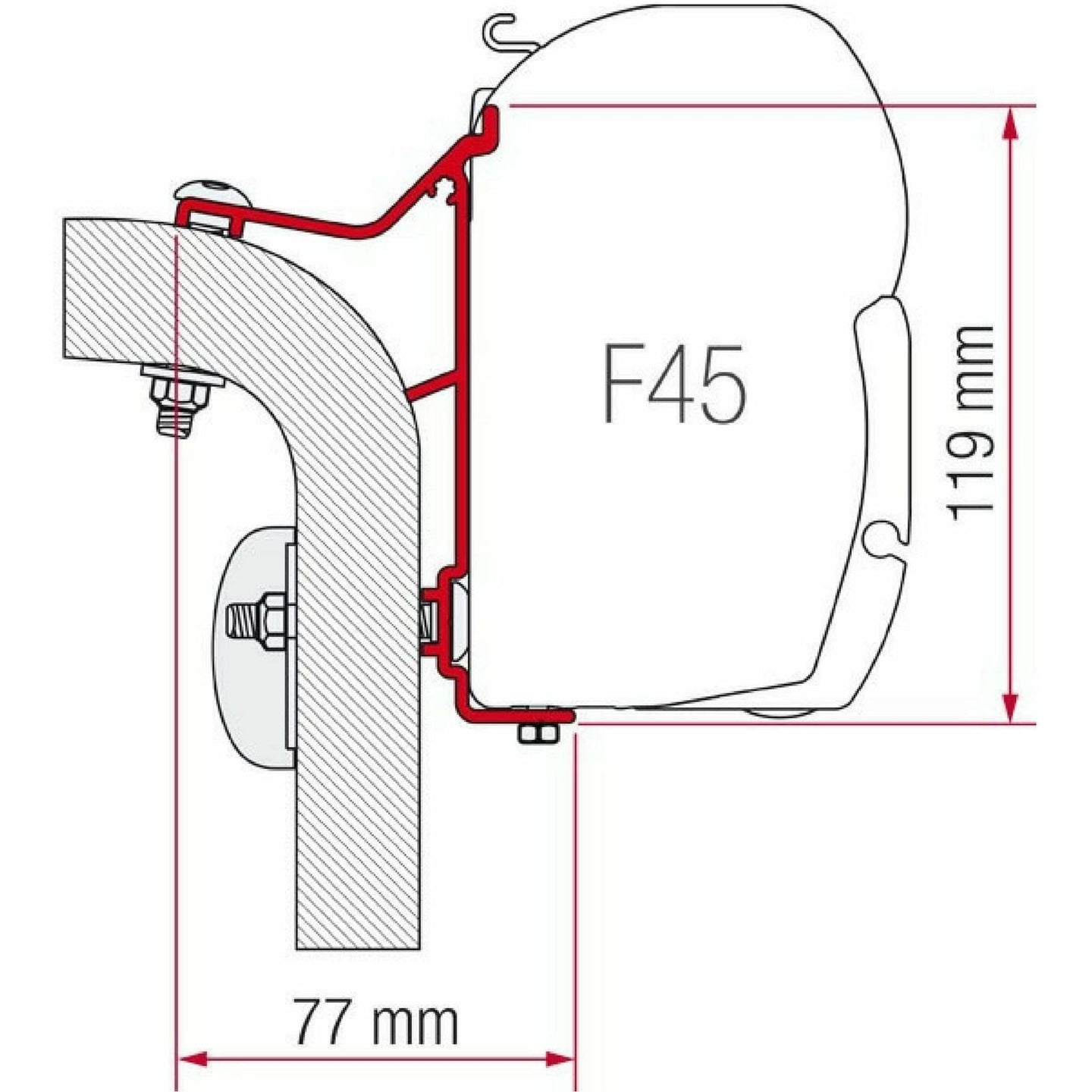 Fiamma Hymer Van/B2 Awning Adapter Kit made by Fiamma. A Awning Adapter sold by Quality Caravan Awnings