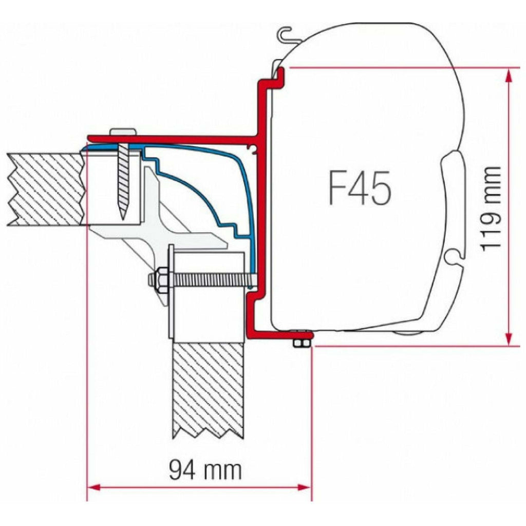 Fiamma Laika Ecovip Motorhome Awning Adapter made by Fiamma. A Awning Adapter sold by Quality Caravan Awnings