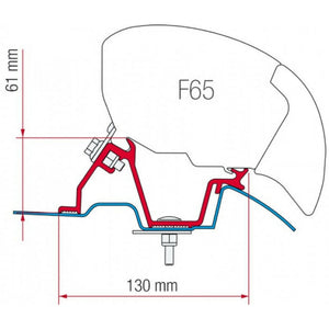 Fiamma Sprinter - Crafter Awning Adapter Kit made by Fiamma. A Awning Adapter sold by Quality Caravan Awnings