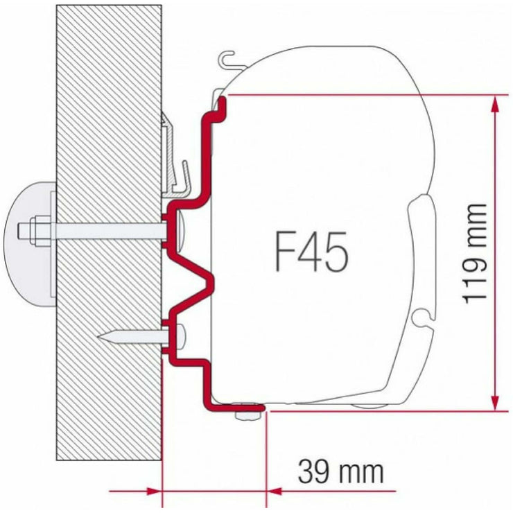 Fiamma Rapido Serie 90dF-9M-10 Awning Adapter made by Fiamma. A Awning Adapter sold by Quality Caravan Awnings