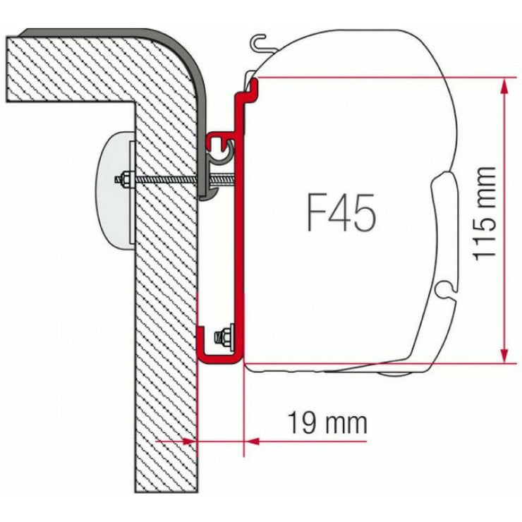 Fiamma Rapido Motorhome Awning Adapter made by Fiamma. A Awning Adapter sold by Quality Caravan Awnings