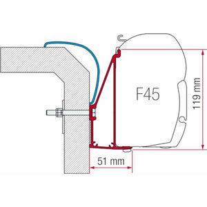 Fiamma Rapido Serie 6 Awning Adapter made by Fiamma. A Awning Adapter sold by Quality Caravan Awnings