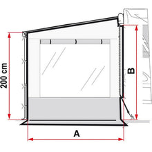 Fiamma Side W Pro Shade Panel - Quality Caravan Awnings