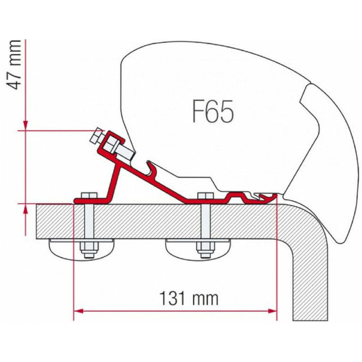 Fiamma Standard F65 Eagle 400 Awning Adapter made by Fiamma. A Awning Adapter sold by Quality Caravan Awnings