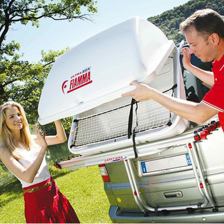 Fiamma Ultra-Box Motorhome Rear Box made by Fiamma. A Roof Boxes sold by Quality Caravan Awnings