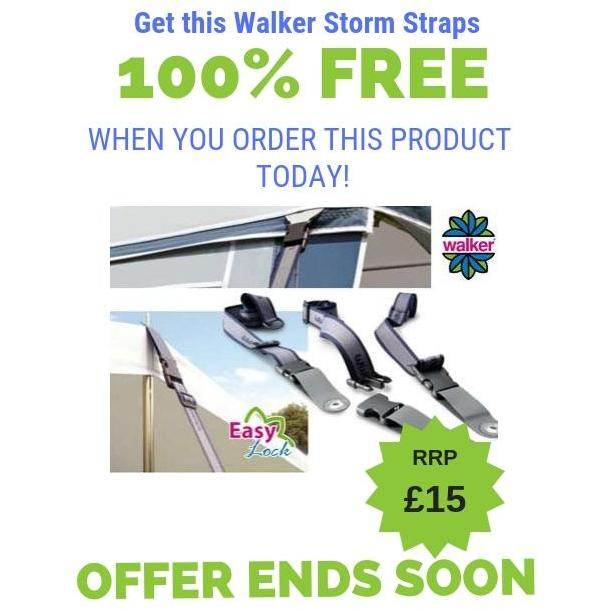 FREE Storm Straps for the WALKER SIGNUM 250 Full Caravan Awning (Alloy Frame) for Trigano Silver