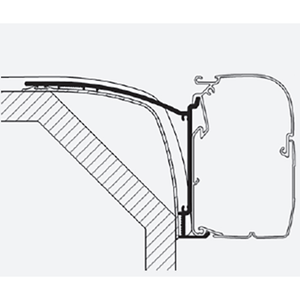 Thule Omnistor Laika Ecovip - Rexosline Awning Adapter 308047 made by Thule. A Add-ons sold by Quality Caravan Awnings