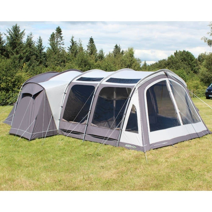Outdoor Revolution Atacama PC 6+2 Berth Premium Polycotton Poled Tent with Multifunctional Side Annexe ORFT4010 + Free Footprint