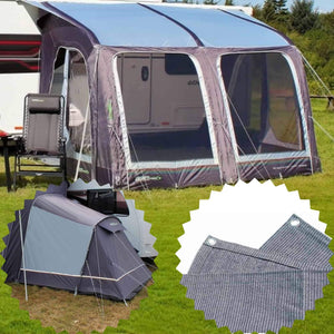 Outdoor Revolution E-Sport Air 325 Caravan Awning & Groundsheet & Annex Bundle (2019) made by Outdoor Revolution. A Air Awning sold by Quality Caravan Awnings