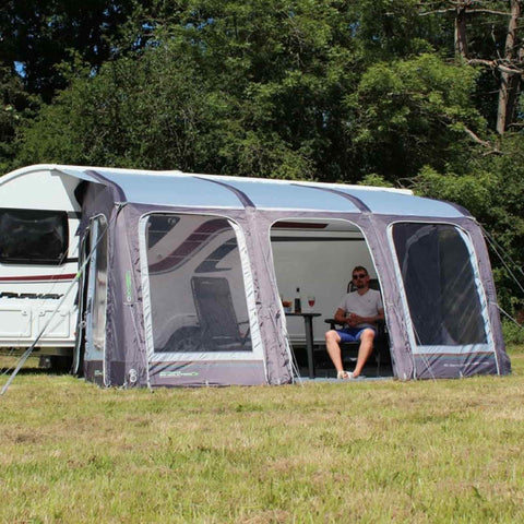 Image of Outdoor Revolution E-Sport Air 400 Caravan Awning & Groundsheet & Annex Bundle (2019) made by Outdoor Revolution. A Air Awning sold by Quality Caravan Awnings