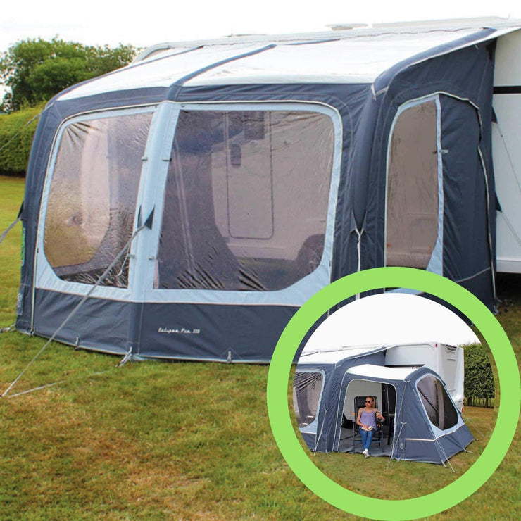 Outdoor Revolution Eclipse 325 Pro Caravan Awning & Conservatory Annexe Bundle (2019) made by Outdoor Revolution. A Air Awning sold by Quality Caravan Awnings