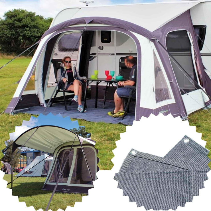 Outdoor Revolution Elan 340 Air Caravan Awning & Groundsheet & Canopy Bundle (2019) made by Outdoor Revolution. A Air Awning sold by Quality Caravan Awnings