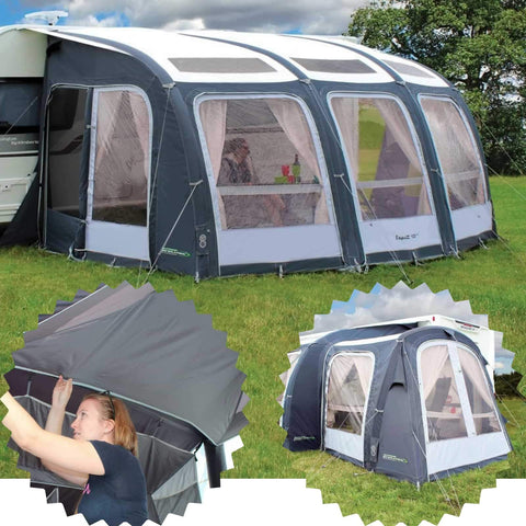 Image of Outdoor Revolution Esprit 420 Pro Awning & Conservatory Annex & Roof Liner Bundle (2019) made by Outdoor Revolution. A Air Awning sold by Quality Caravan Awnings