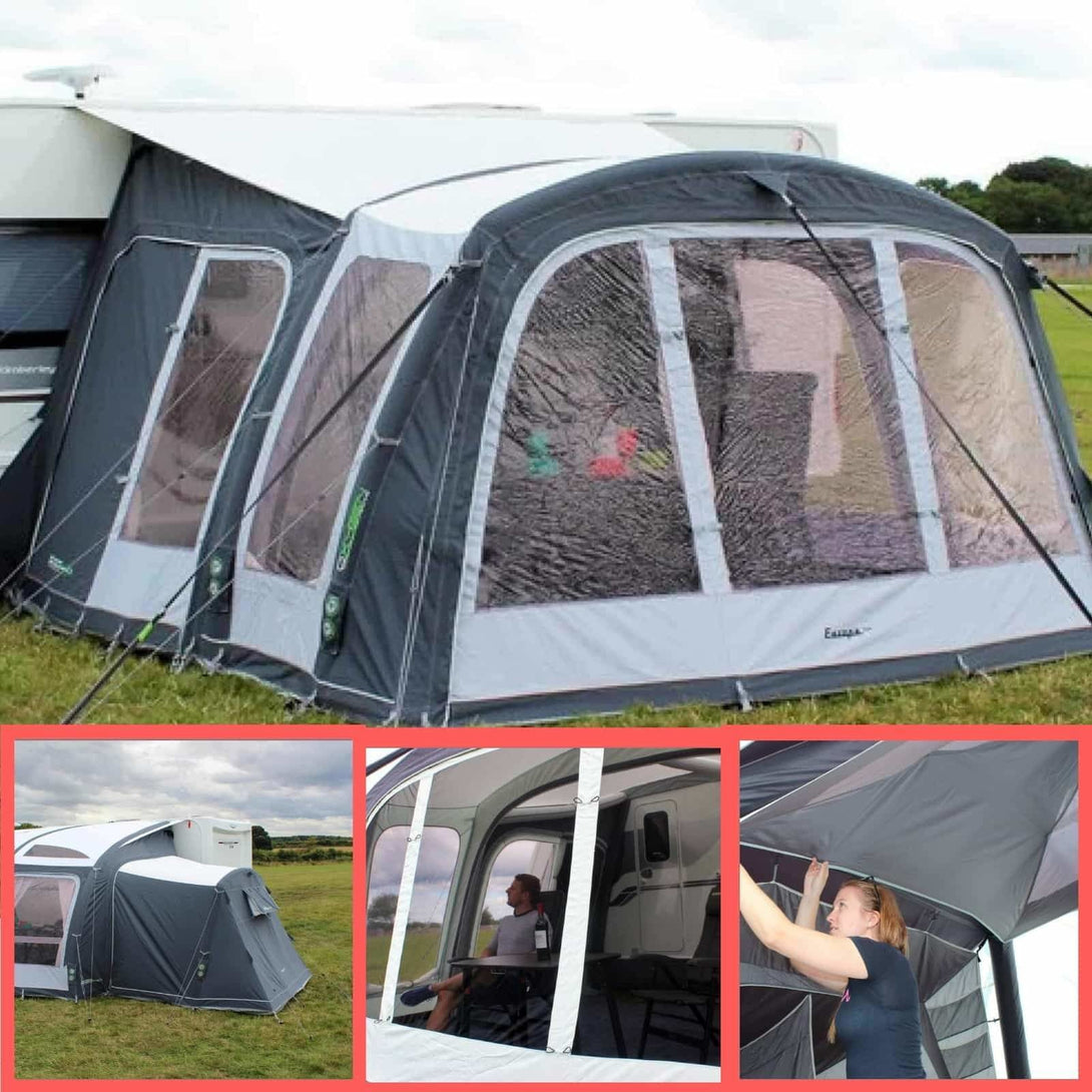 Outdoor Revolution Europa 380 Pro Awning Package (Door, Annex + Liner) - Quality Caravan Awnings