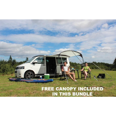 Image of Outdoor Revolution Movelite T5 Kombi Low-Mid Driveaway + Canopy & Carpet Bundle (2019) made by Outdoor Revolution. A Campervan Awning sold by Quality Caravan Awnings