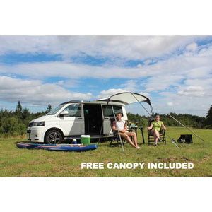 Outdoor Revolution Movelite T4 Low Driveaway Awning + Canopy & Carpet Bundle (2019)