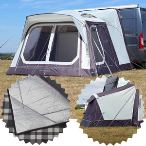 Outdoor Revolution Movelite T1 Low-Midline Awning & Carpet & Annexe Bundle (2019)