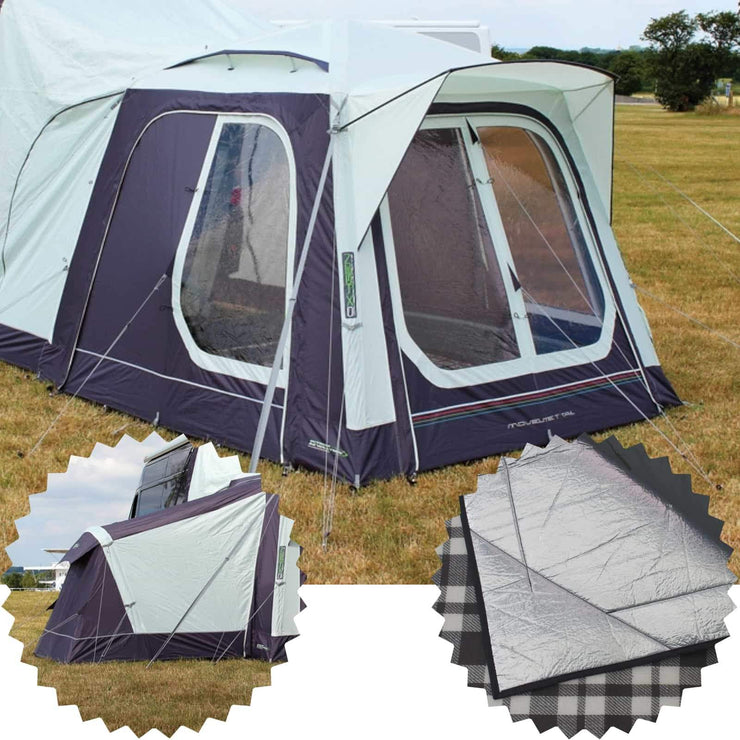 Outdoor Revolution Movelite T1 Tail Low-Midline & Annexe & Carpet Bundle (2019) made by Outdoor Revolution. A Drive-away Awning sold by Quality Caravan Awnings