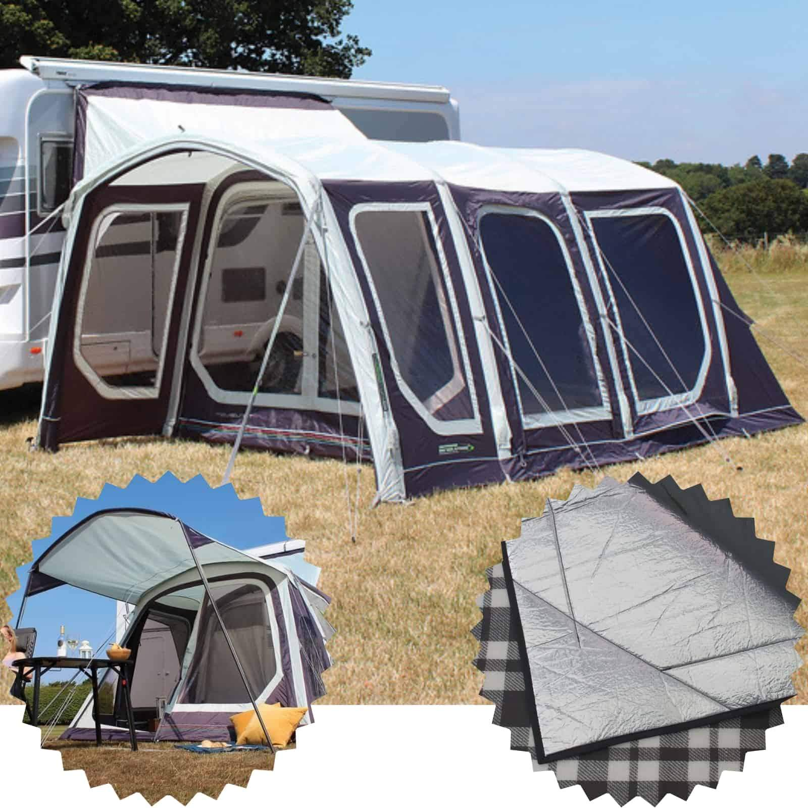 Outdoor Revolution Movelite T4 High Driveaway Awning + Canopy & Carpet Bundle (2020)