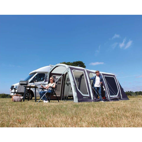 Image of Outdoor Revolution Movelite T4 Lowline Right Hand Door Driveaway Awning + Footprint made by Outdoor Revolution. A Drive-away Awning sold by Quality Caravan Awnings