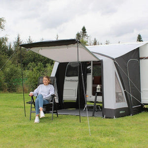Outdoor Revolution Porchlite 260 Inflatable Air Caravan Awning ORBK1040 + Free Carpet (2020)