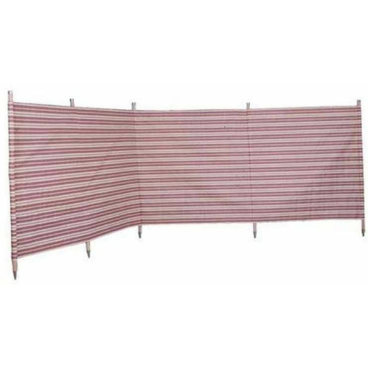 Outdoor Revolution Windbreak 5 Pole Burgundy Stripe (3.6 m single piping) WB500 - Quality Caravan Awnings