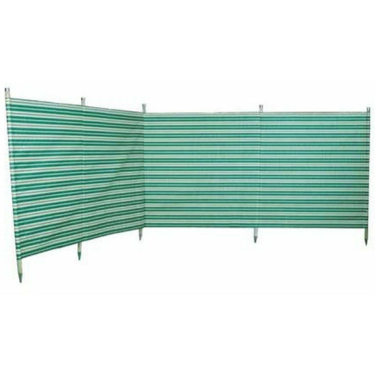 Outdoor Revolution Windbreak 5 Pole Green Stripe (3.6 m single piping) WB510 - Quality Caravan Awnings