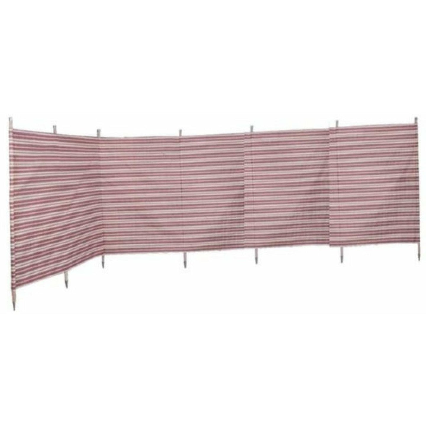Outdoor Revolution Windbreak 7 Pole Burgundy Stripe (5.4 m single piping) WB700 - Quality Caravan Awnings