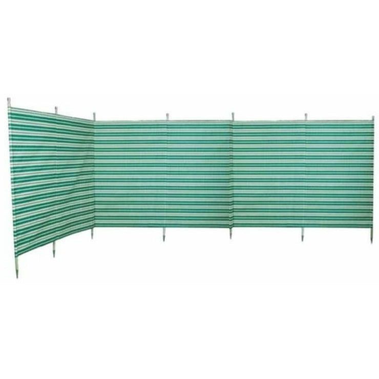 Outdoor Revolution Windbreak 7 Pole Green Stripe (5.4 m single piping) WB710 - Quality Caravan Awnings