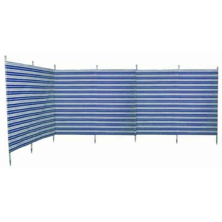 Outdoor Revolution Windbreak 7 Pole Navy Stripe (5.4 m single piping) WB720 - Quality Caravan Awnings